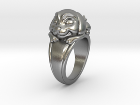 Dog Pet Ring - 17.35mm - US Size 7 in Natural Silver