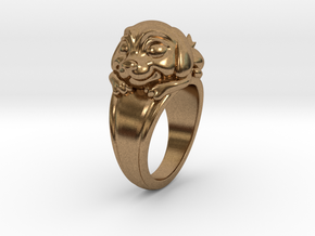 Dog Pet Ring - 18.19mm - US Size 8 in Natural Brass