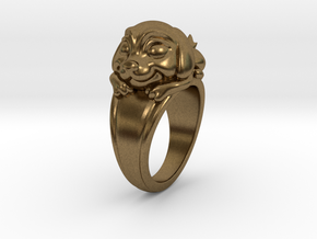 Dog Pet Ring - 18.89mm - US Size 9 in Natural Bronze