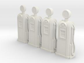 1:72 Deco Petrol Bowser in White Natural Versatile Plastic
