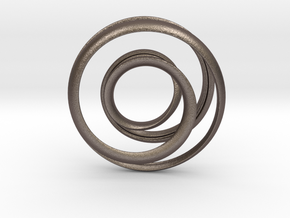 Mobius strip - Pendant in Polished Bronzed Silver Steel
