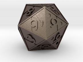 Triforce D20 in Stainless Steel