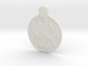 Odin Medallion in White Natural Versatile Plastic