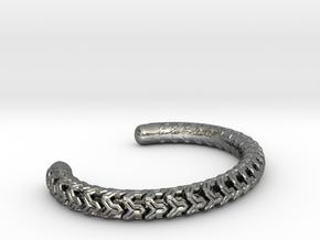 Combine Cuff Medium Narrow in Polished Silver
