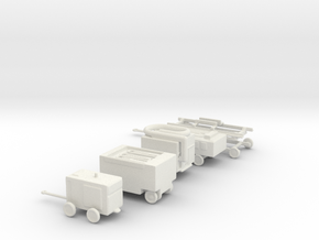 1/144 Scale GSE Set of 5 in White Natural Versatile Plastic