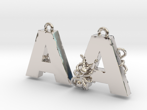 A Is For Ants in Rhodium Plated Brass