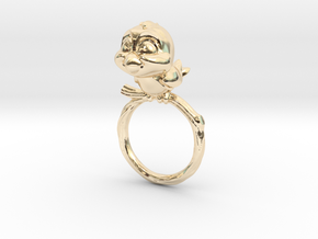 Bird Pet Ring - 18.19mm - US Size 8 in 14k Gold Plated Brass