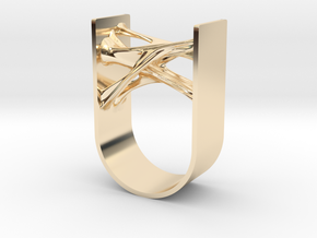 Synapse Ring in 14k Gold Plated Brass: 11 / 64