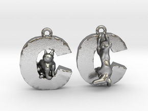 C Is For Cat in Natural Silver
