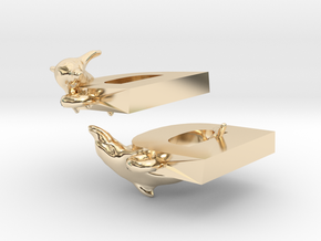 D Is For Dolphin in 14K Yellow Gold