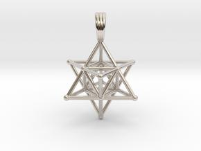 MERKABAH (pendant) in Platinum