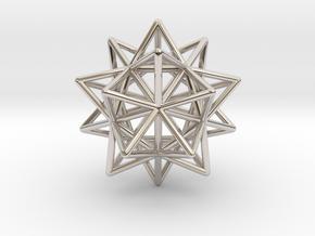 Stellated Icosahedron in Platinum
