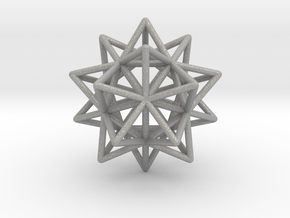 Stellated Icosahedron in Aluminum