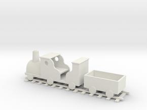 Train Planter - OO Scale in White Natural Versatile Plastic