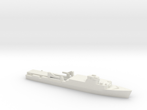Ouragan-class LPD, 1/1800 in White Natural Versatile Plastic