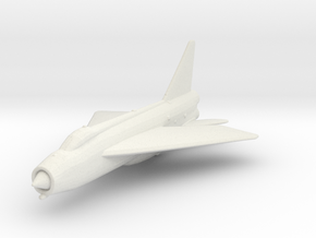 English Electric Lightning in White Natural Versatile Plastic: 1:200