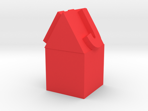 Pencil Topper House  in Red Strong & Flexible Polished: Small