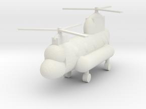 Model Arctic Chinook in White Natural Versatile Plastic