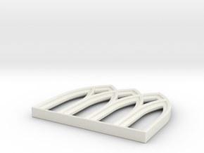 28mm Scale Gothic Window Frame for MDF in White Natural Versatile Plastic