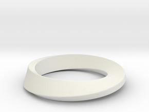 Mobius in White Natural Versatile Plastic