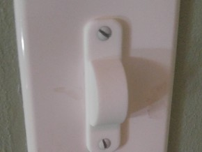 Normal Light Switch Cover in White Natural Versatile Plastic