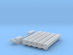 """'N Scale' - 12"""" Round Bottom Conveyor in Frosted Ultra Detail"""