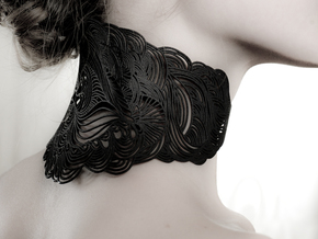 WAVE NECKLACE in Black Strong & Flexible