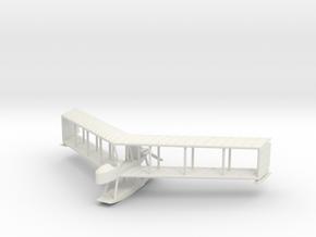 Burgess-Dunne Hydro Biplane, 1:100 Scale in White Natural Versatile Plastic