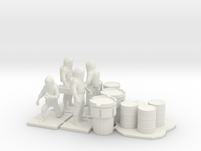 Hazmat Team 3, Multiple Scales in White Natural Versatile Plastic: 1:87
