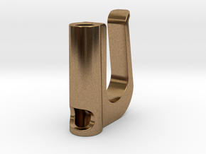 Ecig Clip in Natural Brass