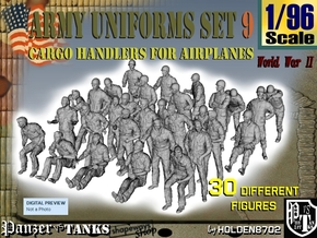 1-96 Army Modern Uniforms Set9 in Frosted Ultra Detail