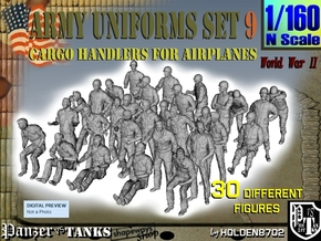 1-160 Army Modern Uniforms Set9 in Smooth Fine Detail Plastic