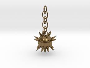 Flail Ball Earring in Interlocking Raw Bronze