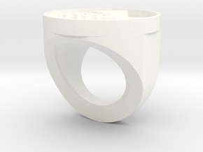 FFL ring in White Natural Versatile Plastic: Small