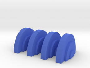 Game Piece, Field Generator in Blue Processed Versatile Plastic