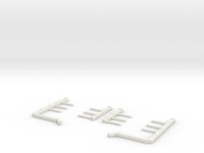 Shuttle MLP Piping 1:72 in White Natural Versatile Plastic