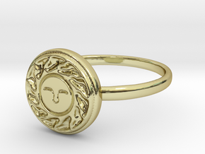 Sun Seal in 18k Gold Plated: 8.5 / 58