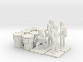 Hazmat Team 2, Multiple Scales in White Natural Versatile Plastic: 1:87