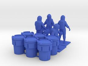 Hazmat Team 2, Multiple Scales in Blue Processed Versatile Plastic: 1:64