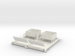 01A-LRV - Central Platform in White Natural Versatile Plastic