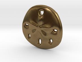 Sandollar Charm in Natural Bronze
