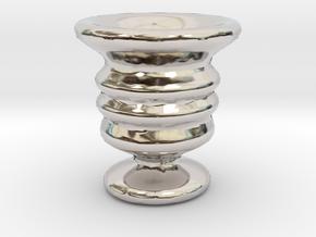 Tiny Vase in Rhodium Plated Brass