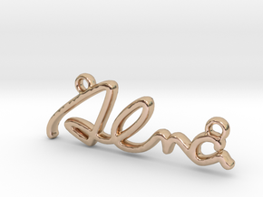 ALMA Script First Name Pendant in 14k Rose Gold Plated Brass