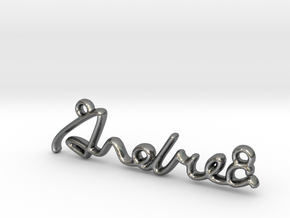 ANDREA Script First Name Pendant in Premium Silver