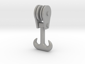 Forged Double Hook - Block - HO 87:1 Scale in Aluminum