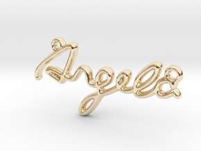 ANGELA Script First Name Pendant in 14k Gold Plated Brass