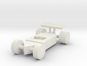 f1 race car in White Natural Versatile Plastic: Small