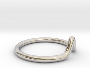 Minimalist Peak Ring in Rhodium Plated Brass: 11 / 64