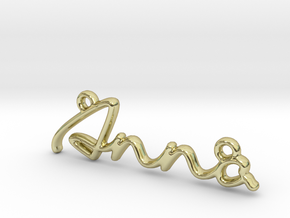 ANNA Script First Name Pendant in 18k Gold Plated Brass