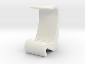 Miniature Amoeba Highback Chair - Verner Panton in White Natural Versatile Plastic: 1:24